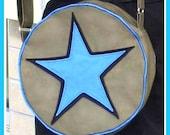 Scott Pilgrim Movie - GRAY with BLUE STAR Purse - Ramona Flowers Cosplay Bag (etsy)
