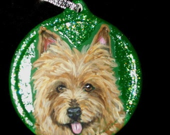 Australian Terrier Dog Custom hand Painted Christmas Ornament Decoration