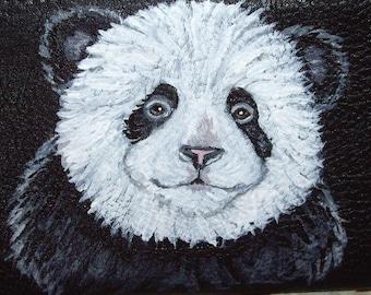 Panda Bear Painted Leather Men's Wallet