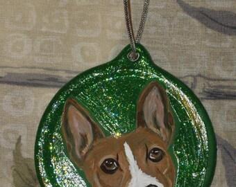 Basenji Dog Custom hand Painted Christmas Ornament Christmas Decoration