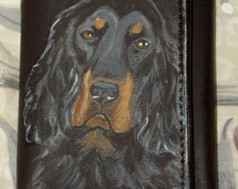 Gordon Setter Dog Painted Men Leather Wallet
