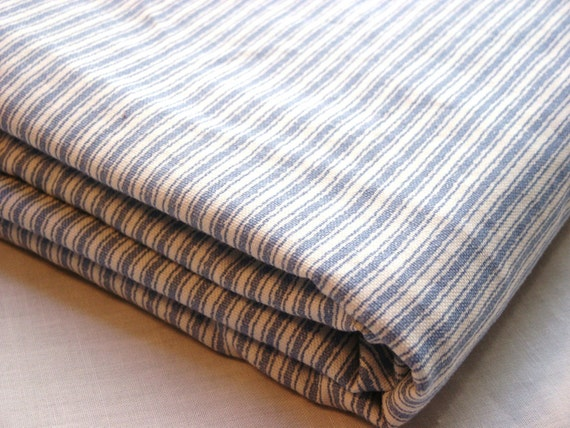 Blue And White Ticking Fabric By Robert Allen