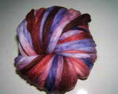 Hand dyed Superwash Merino Nylon Spinning Wool 3.75oz Sari Collection B1