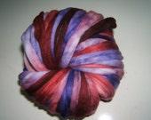 Hand dyed Superwash Merino Nylon Spinning Wool 3.75oz Sari Collection B1