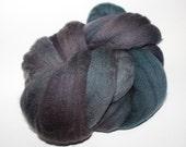 Hand dyed BFL Spinning Wool Roving 4 oz Tektite 2