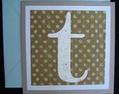 T Initial Folded Card