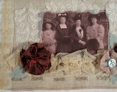 Vintage Style Fabric Collage