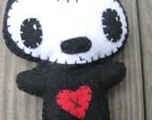 super cute BLACK felt mascot