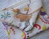 MINI COIN POUCH - Vintage Embroidered BIRD