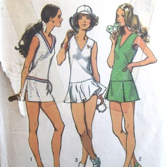 Vintage Ladies' Tennis Dress and Bloomers Sewing Pattern