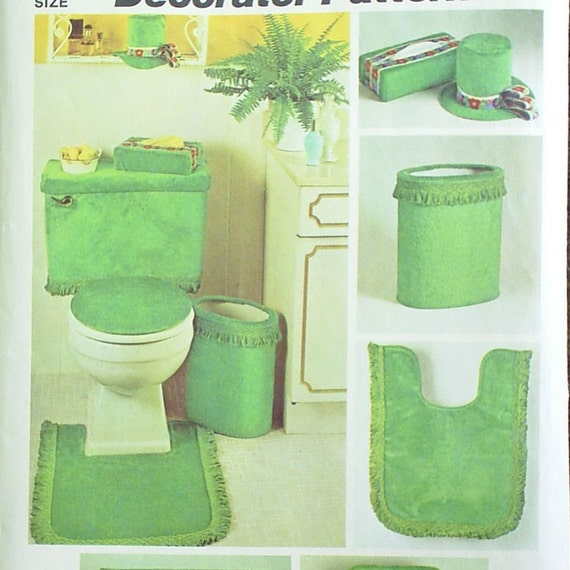 Vintage 70s Bathroom Decor Sewing Pattern By Onehotwaffle
