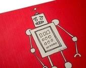 robot graphic mousepad - pink