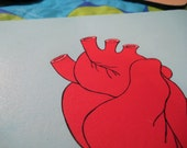 anatomical heart graphic mousepad