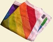 hand painted silk rainbow scarf