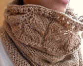 Over The Top Caramel Cowl. Cozy Tubular Scarf