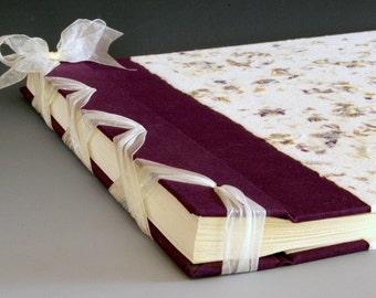 Handmade Photo Album: Purple Larkspur jumbo
