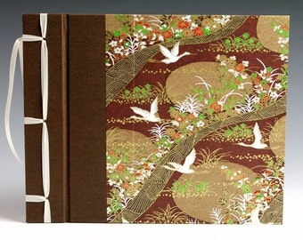 Handmade Photo Album: Brown Cranes small