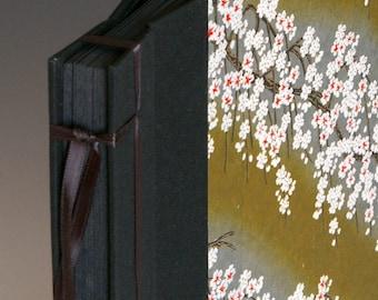Handmade Photo Album: Black & Red Cherry Blossom small