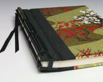 Handmade Journal - Cherry Blossom Hottie Chopstick Journal