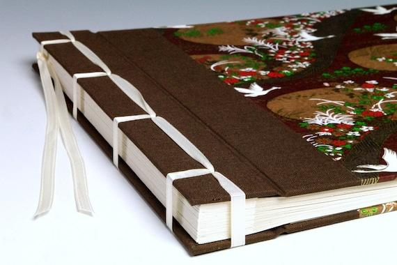 Handmade Photo Album: Brown Cranes large