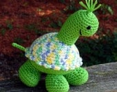 PATTERN - Tootles Turtle PDF - Crochet Amigurumi - HappyWhosits Zoo