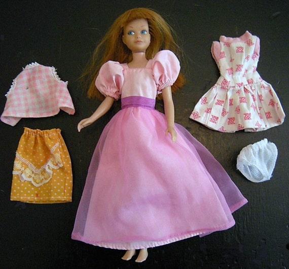 vintage 1964 mattel japan skipper doll with original dress and
