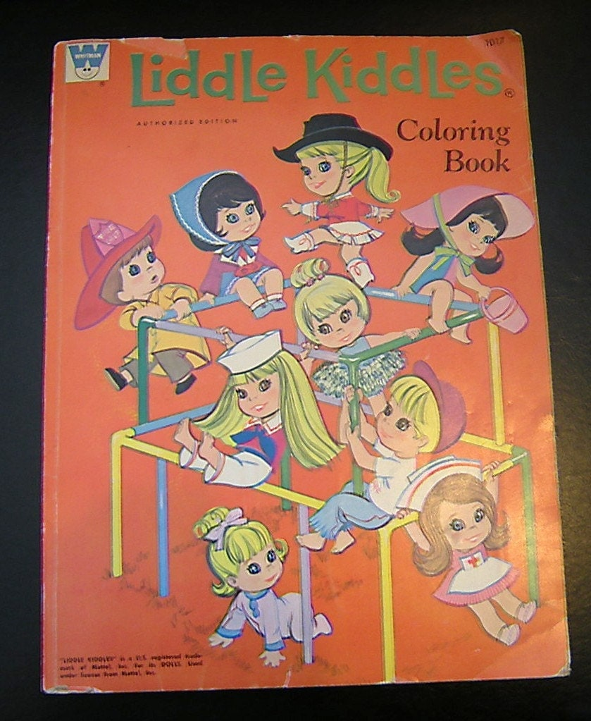 vintage 70s liddle kiddles coloring book whitman mattel