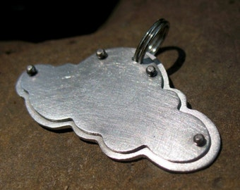 Cloud Pet Tag Made to Size