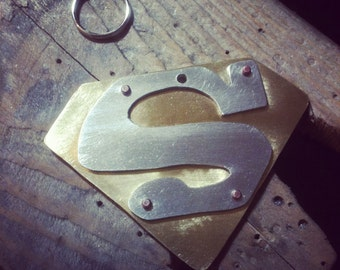 Super Tag in brass and nickel silver