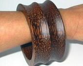 WILD & WIDE wooden bracelet bangle cuff natural palmwood