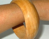 wooden bracelet bangle cuff natural wood jewelry