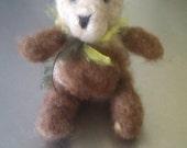 Alaska Grown Needle Felted Teddy Bear