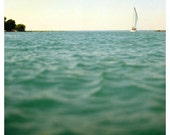 Water Photograph - Michigan Photography - Sailboat Photograph - Fine Art Photograph- Billowing- Alicia Bock - Boat - Landscape - Michigan