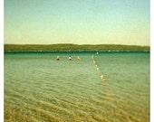 Fine Art Photography - Sea - Coastal Art - Bathing Beauties- Alicia Bock - Michigan - Beach - Summer - Lake - Blue - Green - Oversized Art