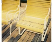 Sex and the City - Fine Art Polaroid Photograph - Swimming at the Grand Part 2 - Yellow - Chair - Summer - Carrie Bradshaw