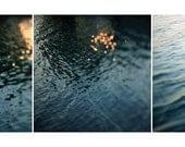 Water Photograph - Lake - Michigan - Fine Art Photograph - Light on Water - Blue - Nature Photography