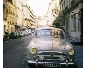Paris Decor - Polaroid Photograph - Paris Photograph - French Photography - Vintage Car - The Renault - Fine Art Photograph - Wall Art