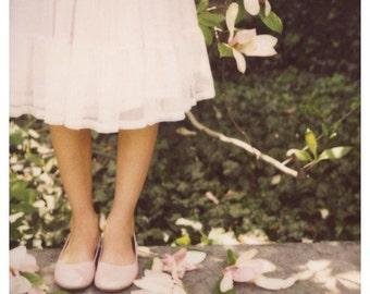 Polaroid Photograph - Nature - Pink -  Late Bloomer - Magnolia Tree - Spring - Flower Photograph - Home Decor- Fine Art - Alicia Bock
