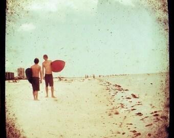 Surf Photograph - Beach Photography - Florida - Surf Boys Revisited- Original Fine Art Photograph