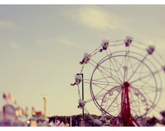 Ferris Wheel Photograph - Landscape Photography - Fair Photograph - Carnival - Cotton Candy Daydreams - Original Fine Art Photograph - Bock