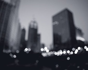 Chicago Photography - City Photograph - All That Glitters - Original Fine Art Photograph - Black and White Photography - Architecture - Bock