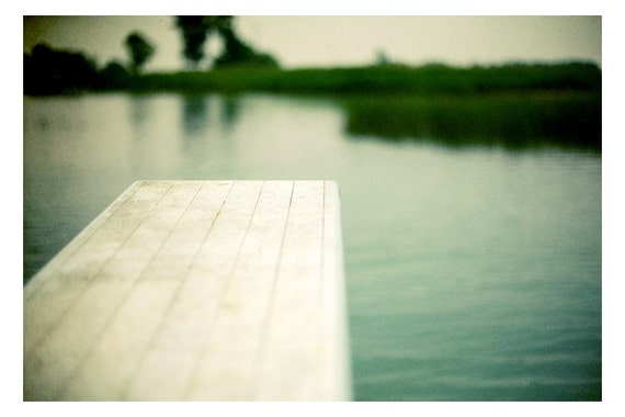 Water Photograph - Diving Board - Michigan Art - Feels Like July -  Fine Art Photograph - Landscape Photography - Alicia Bock -Oversized Art