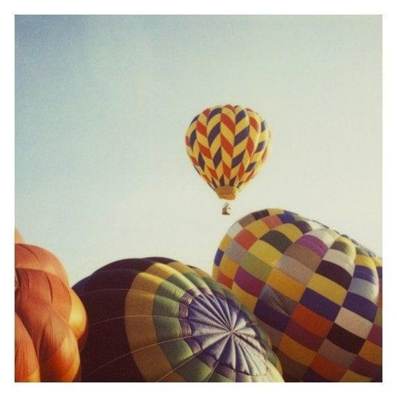 Hot Air Balloon - Balloon Photograph - Polaroid Photograph - Fine Art Photography - Away We Go -  Original Fine - Travel Photography