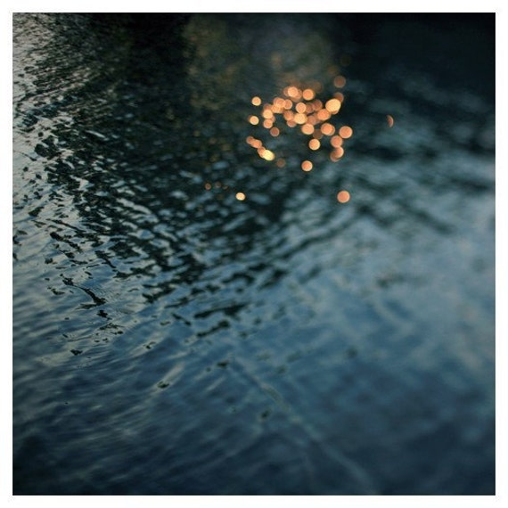 Water Photograph - Nature Photography - Sparkle - Light - Sunshine - Summer - Fine Art Photograph- Citrine - Michigan - Alicia Bock