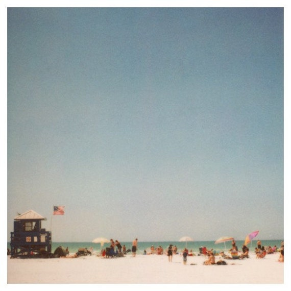 Polaroid - 2900 Miles 5 - Fine Art Photograph - Beach Photograph - Summer Photograph - Florida - Travel Photography - Blue - Alicia Bock