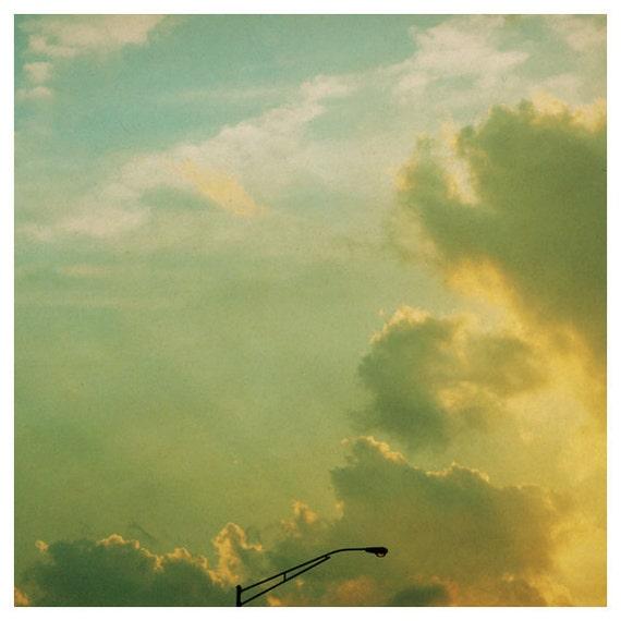 Nature Photography - Cloud Photograph - Fine Art Photograph - Sunday Night Lights - Alicia Bock - Sky - Yellow - Sunset - Collecting Clouds