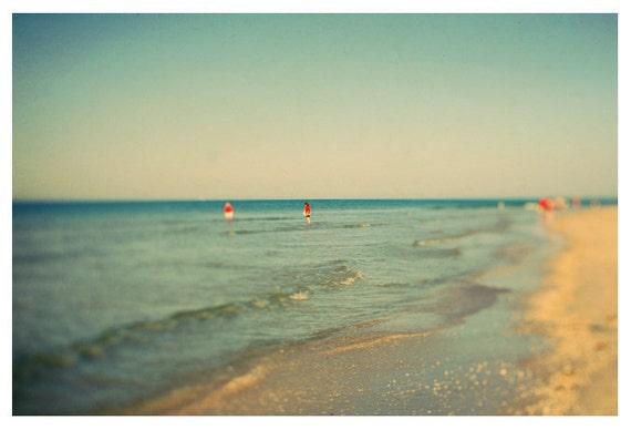 Landscape Photograph - Fine Art Photography - Beach Photography - Lido 2 - Florida Gulf Coast - Florida Art - Beach Art - Blue - Water