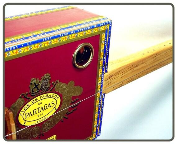 Cigar Box Diddley Bow Guitar - The Partagas