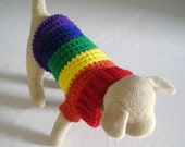 Introducing the Doggay Sweater (X-Small) - Dog Sweater in Gay Pride Colors