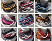 Create Your Own Matching Rope Scarf - Crocheted Neckwarmer - Cowl Scarf- Infinity Scarf  Any Colors